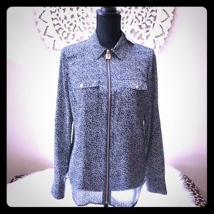 Michael Kors Printed Zippered Blouse🌟